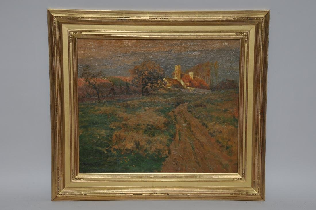Walter L. Greene. French country road landscape with a
