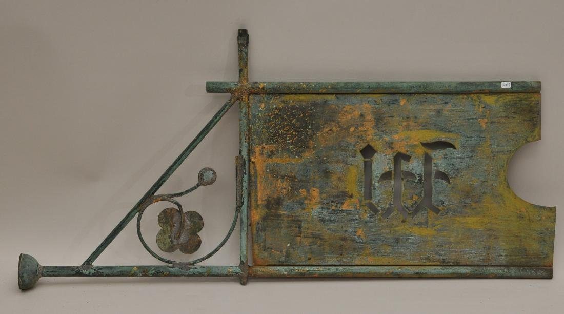 19th century American Folk Art banner Weathervane with