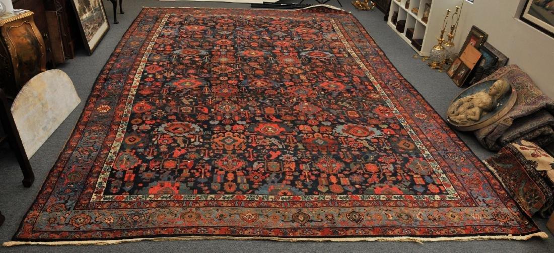 Antique oversize Bidjar carpet with all-over medallion