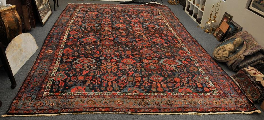 Antique oversize Bidjar carpet with all-over medallion