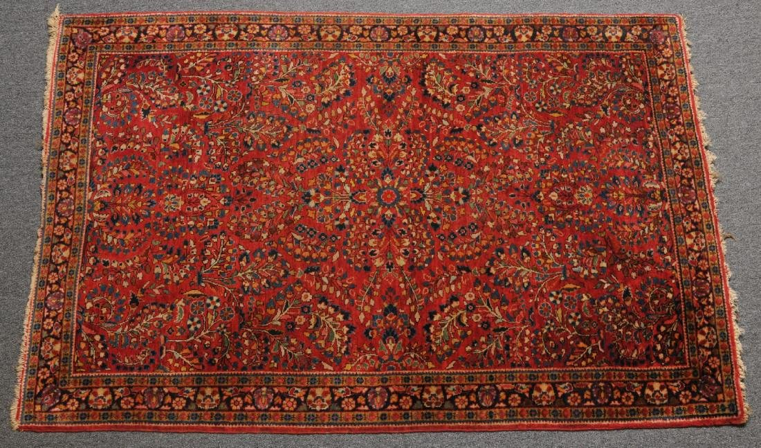 Semi-antique Sarouk scatter carpet. All-over