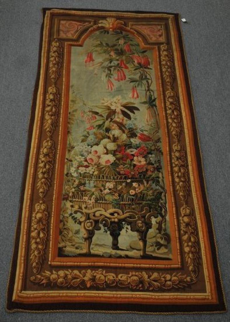 Aubusson wall panel Tapestry. Circa 1870-1890. Having a