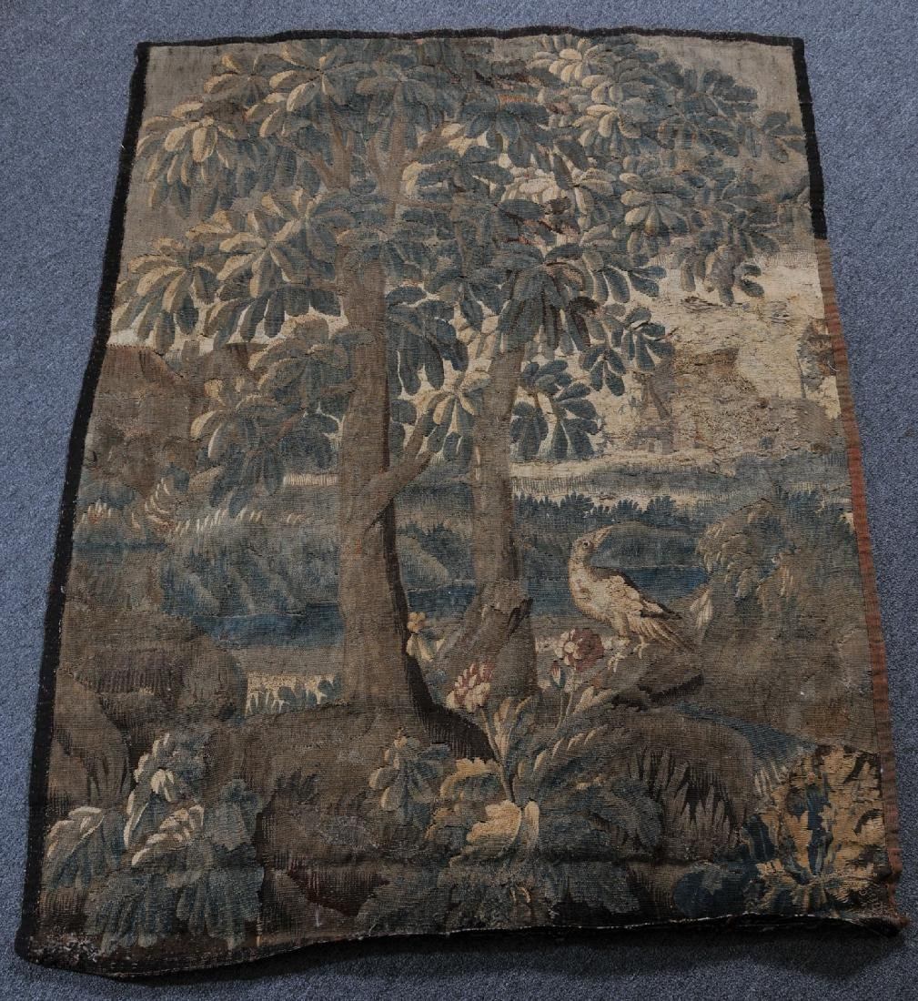 17th/18th century Flemish Tapestry fragment. Landscape