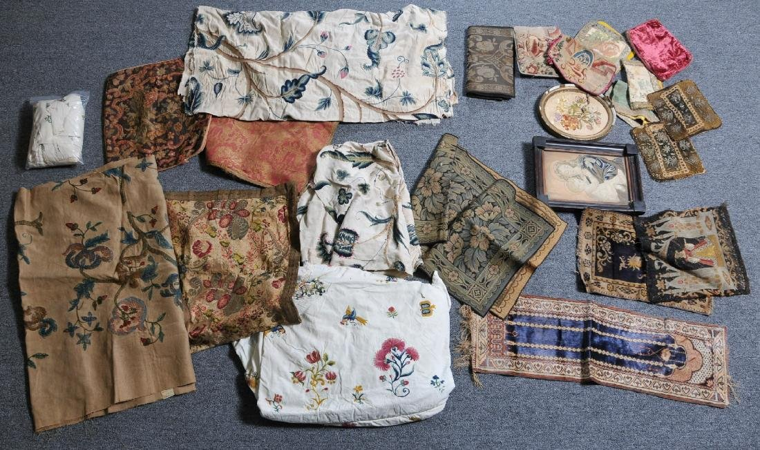 Lot of antique Textiles including 18th/19th century
