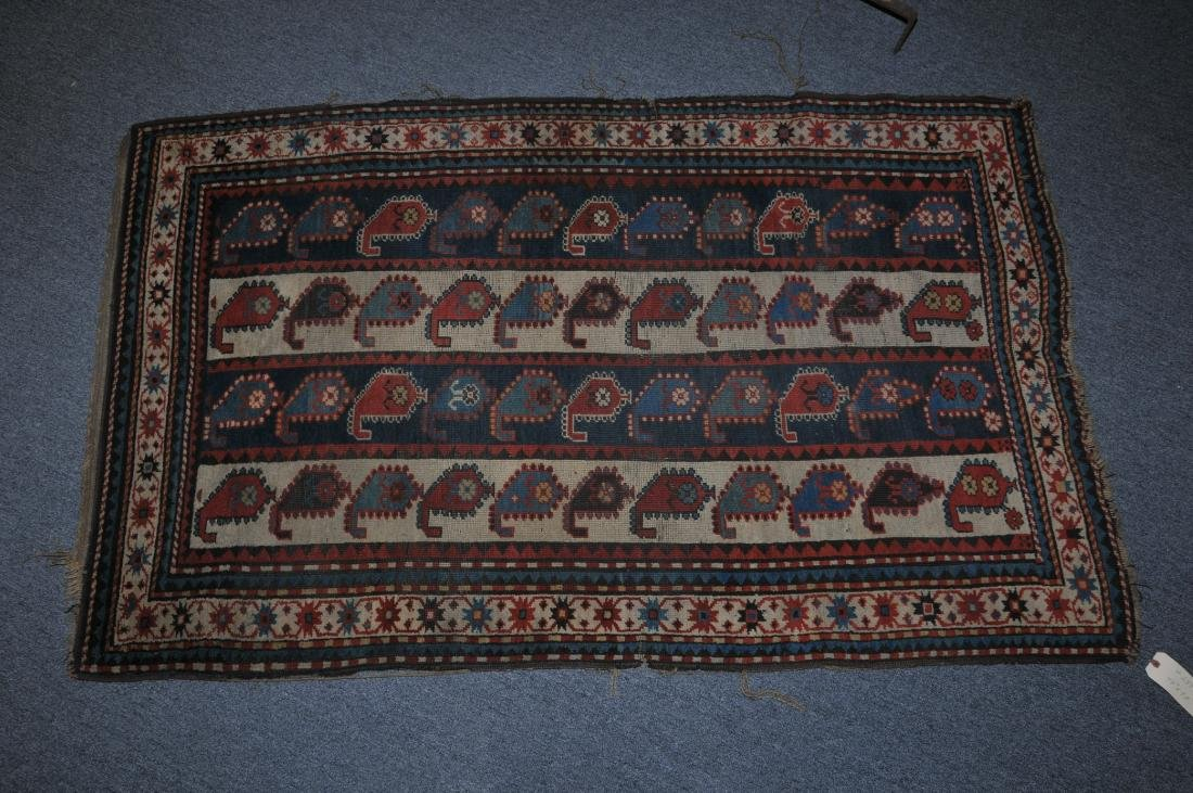 Antique 19th century Caucasian Karabaugh carpet.
