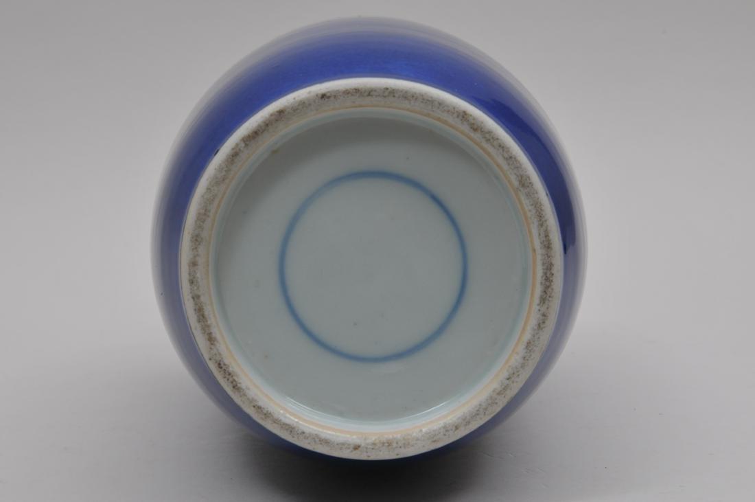 Porcelain vase. China. 19th century. Roleau form. Deep - 6