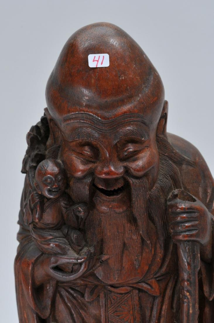 Bamboo root carving. China. 19th century. Figure of - 2
