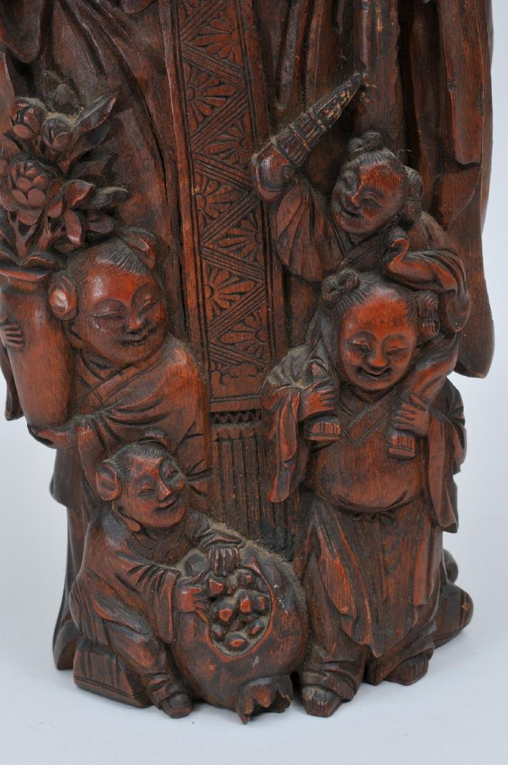 Bamboo root carving. China. 19th century. Figure of - 3