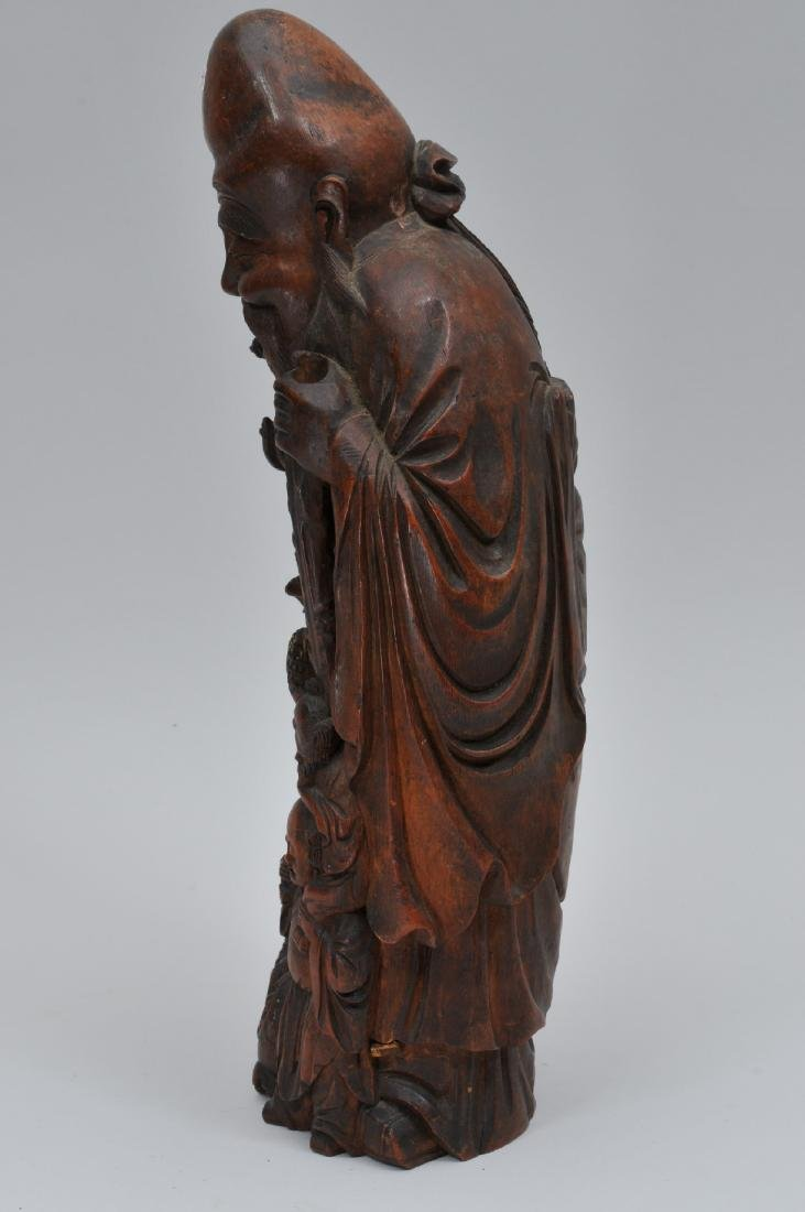 Bamboo root carving. China. 19th century. Figure of - 4