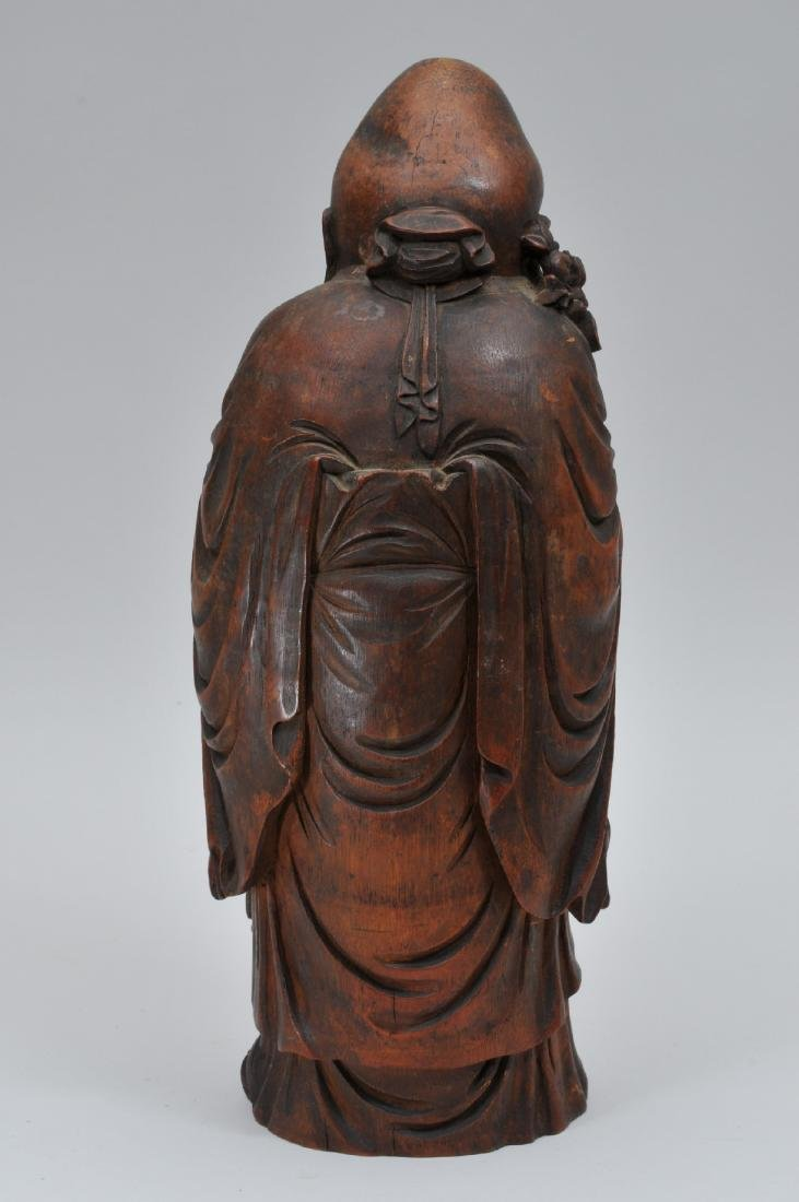 Bamboo root carving. China. 19th century. Figure of - 5