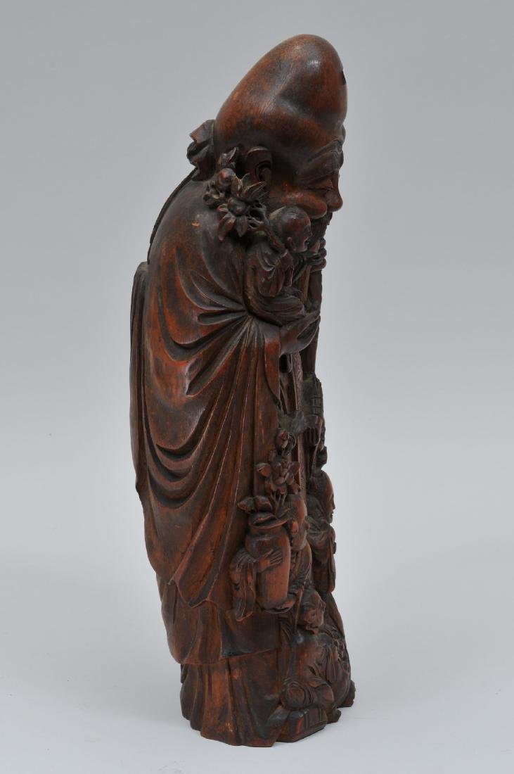 Bamboo root carving. China. 19th century. Figure of - 6