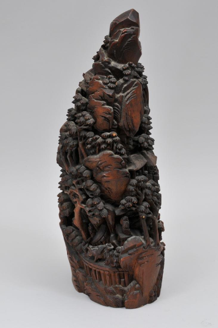 Bamboo root carving. China. 19th century. Carving of a - 10