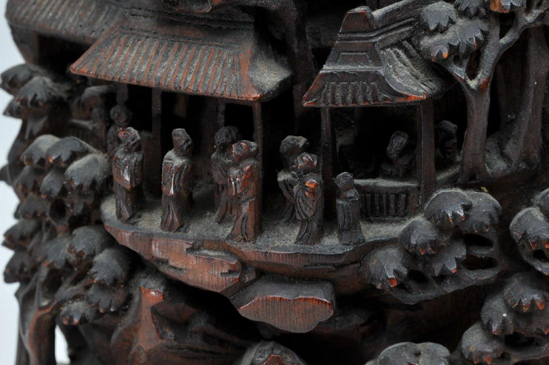 Bamboo root carving. China. 19th century. Carving of a - 3