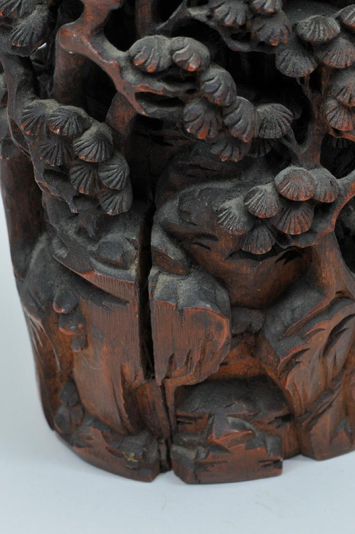 Bamboo root carving. China. 19th century. Carving of a - 6