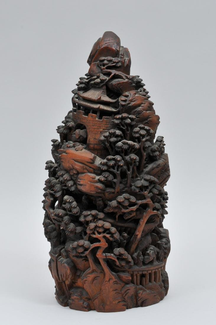 Bamboo root carving. China. 19th century. Carving of a - 7