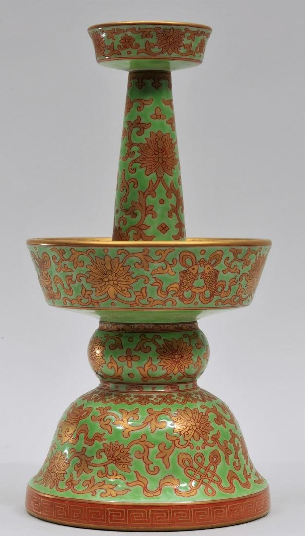 Porcelain candle pricket. China. 20th century.