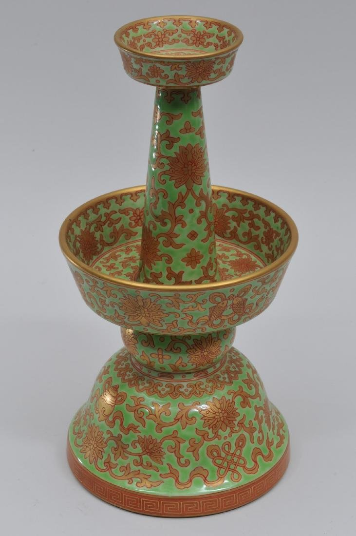 Porcelain candle pricket. China. 20th century. - 2