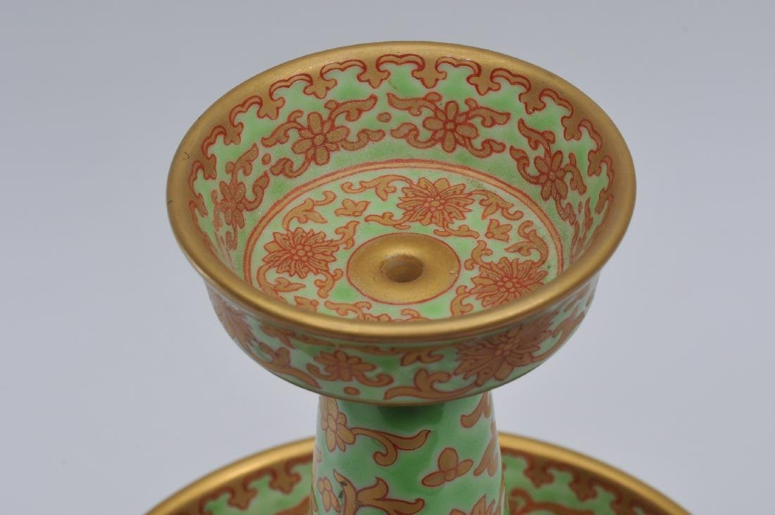 Porcelain candle pricket. China. 20th century. - 4