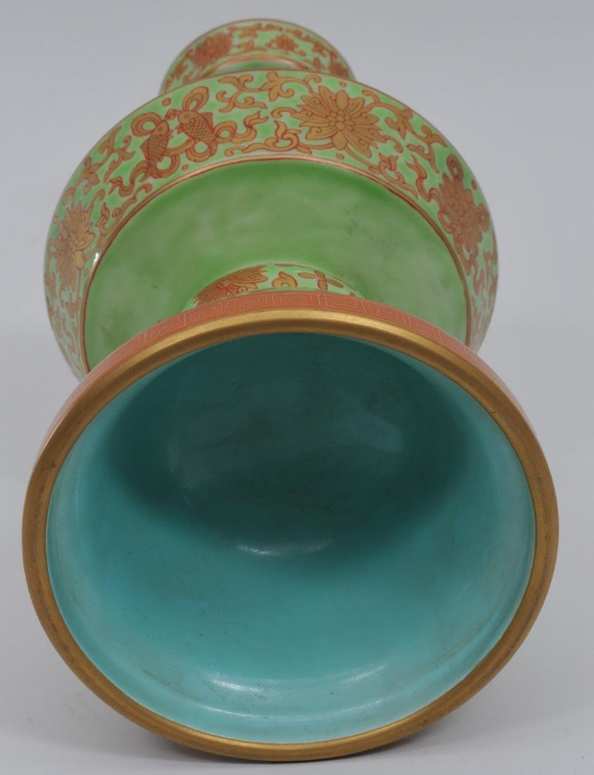 Porcelain candle pricket. China. 20th century. - 5