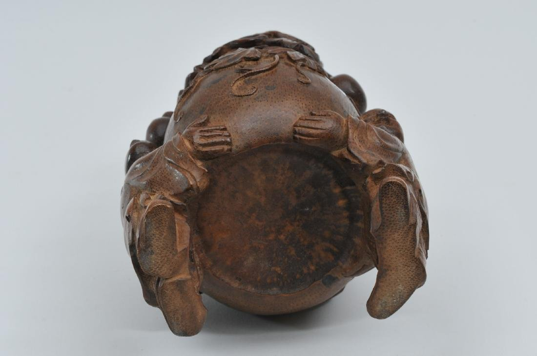 Bamboo root carving. China. 19th century. Double gourds - 8