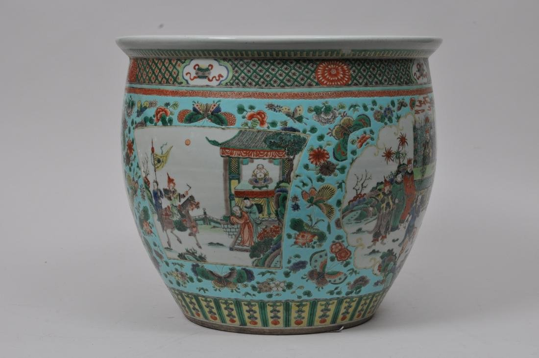 Porcelain planter. China. 19th century. Famille Verte - 5