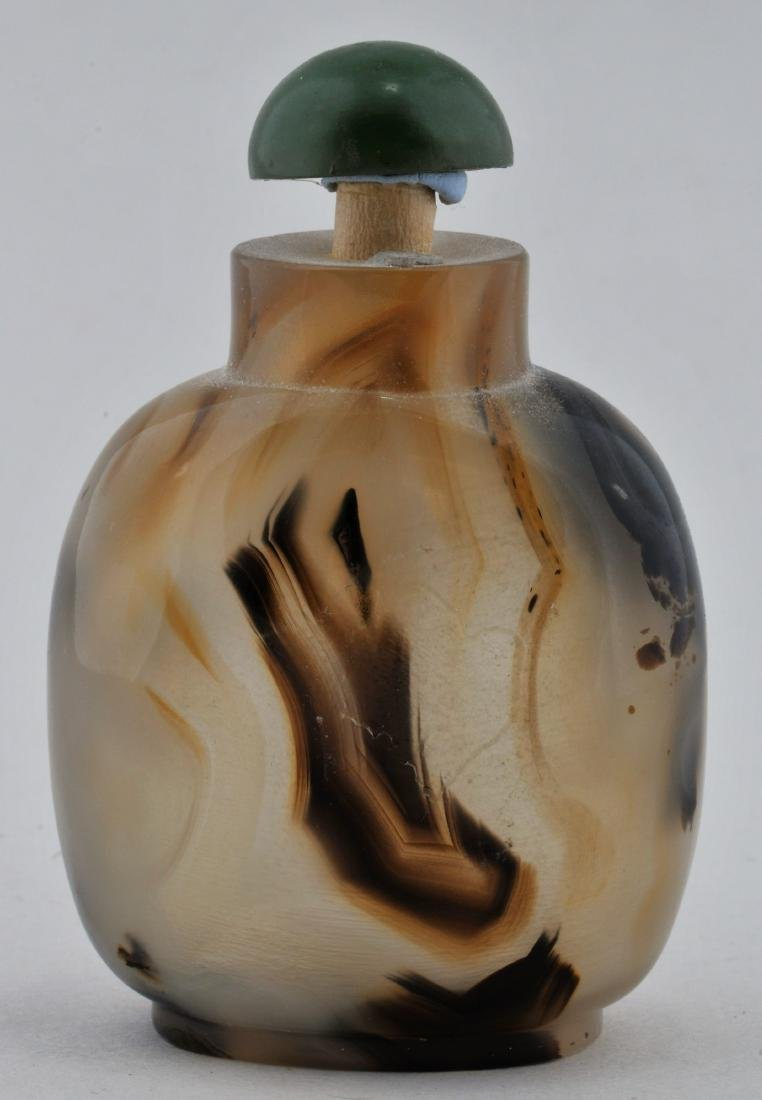 Agate Snuff bottle. China. 19th century. Extremely well