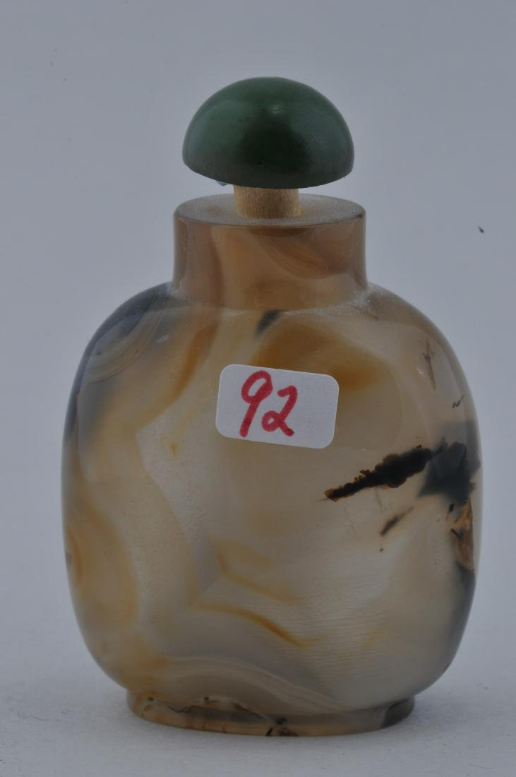 Agate Snuff bottle. China. 19th century. Extremely well - 3