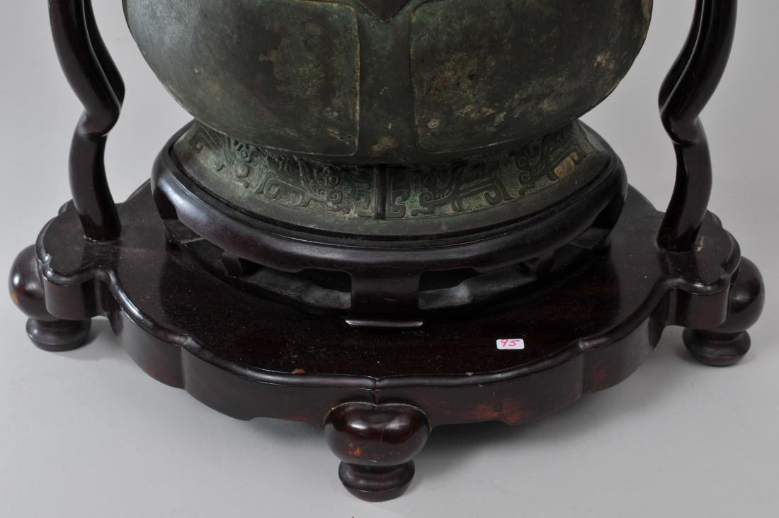 Large bronze jar with cover. China. 19th century or - 4