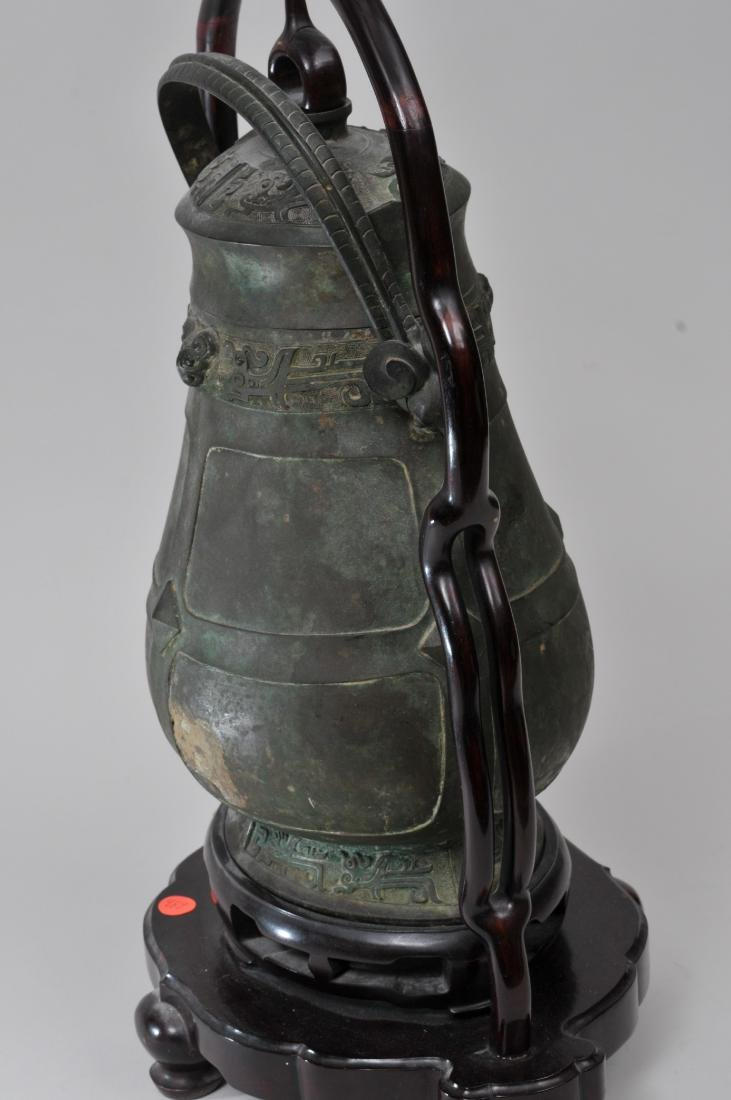 Large bronze jar with cover. China. 19th century or - 5