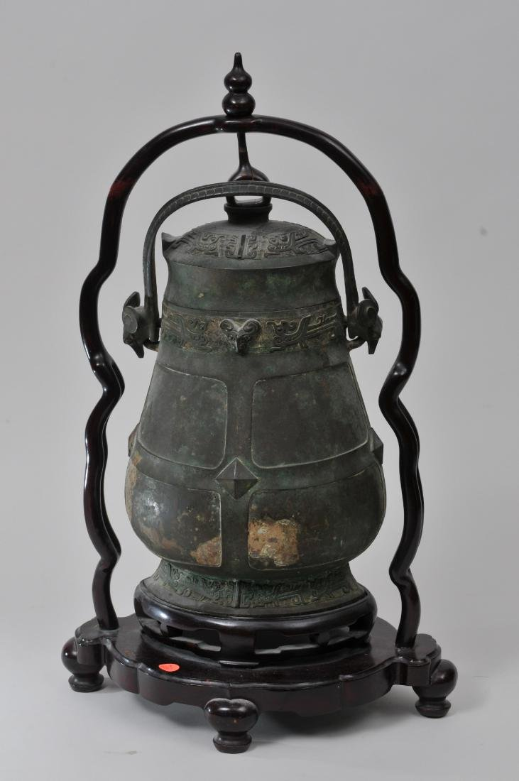 Large bronze jar with cover. China. 19th century or - 6