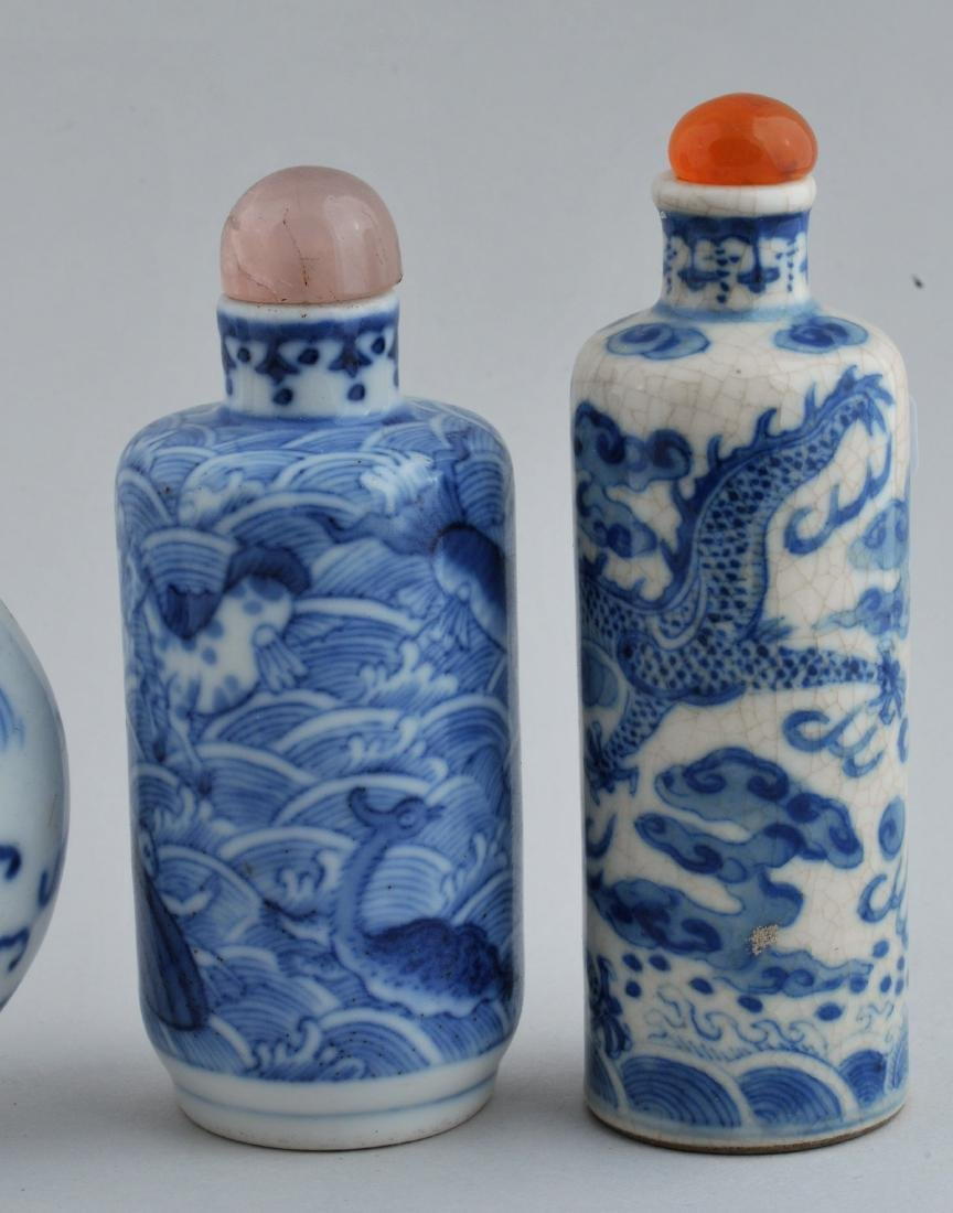 Lot of three Snuff bottles. China. 19th century. Two - 2