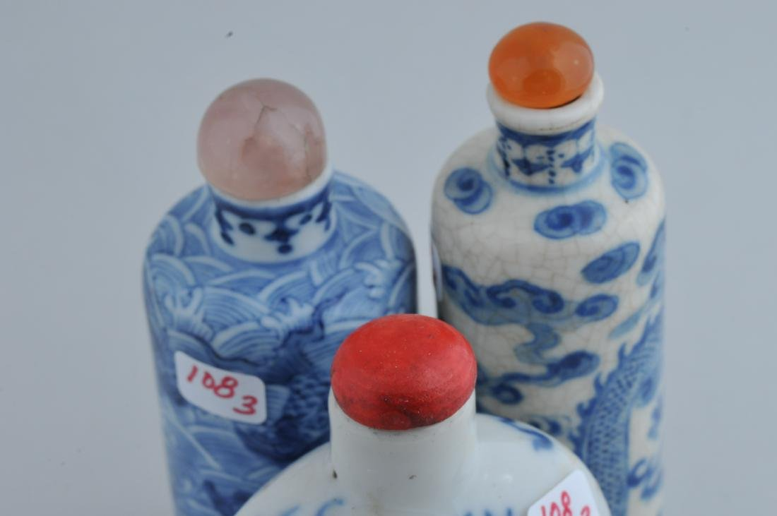 Lot of three Snuff bottles. China. 19th century. Two - 5