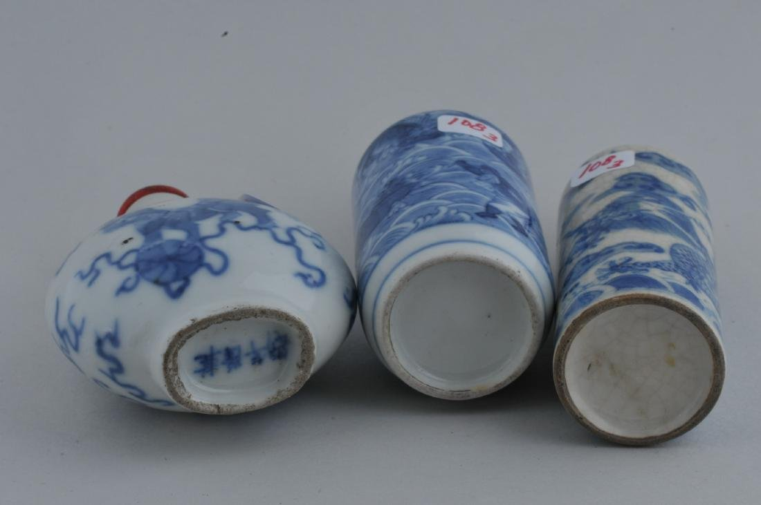 Lot of three Snuff bottles. China. 19th century. Two - 6