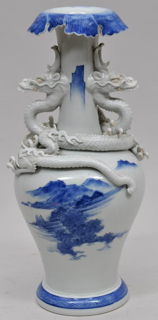 Porcelain vase. Japan. 19th century. Hirado ware. Pair - 5