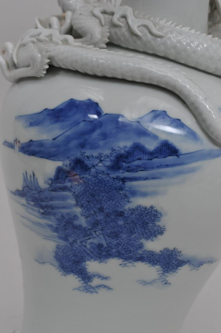 Porcelain vase. Japan. 19th century. Hirado ware. Pair - 6