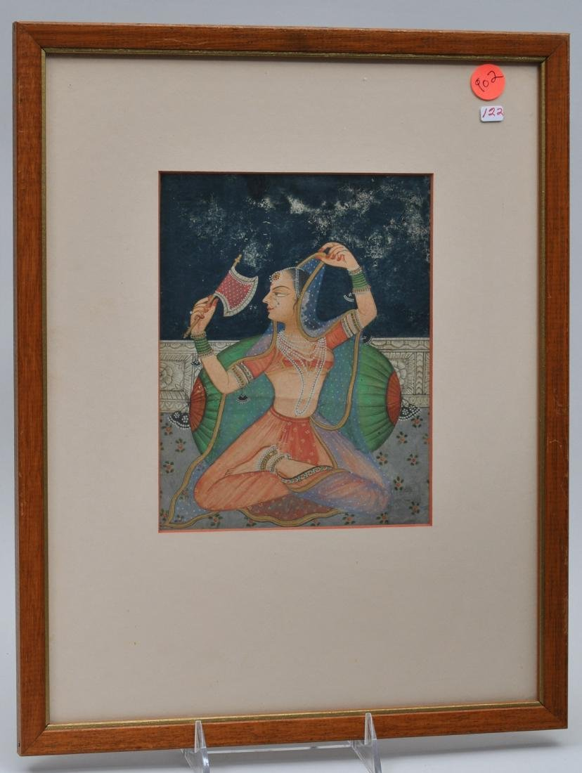 Miniature painting. India. 19th century. Ink, colours