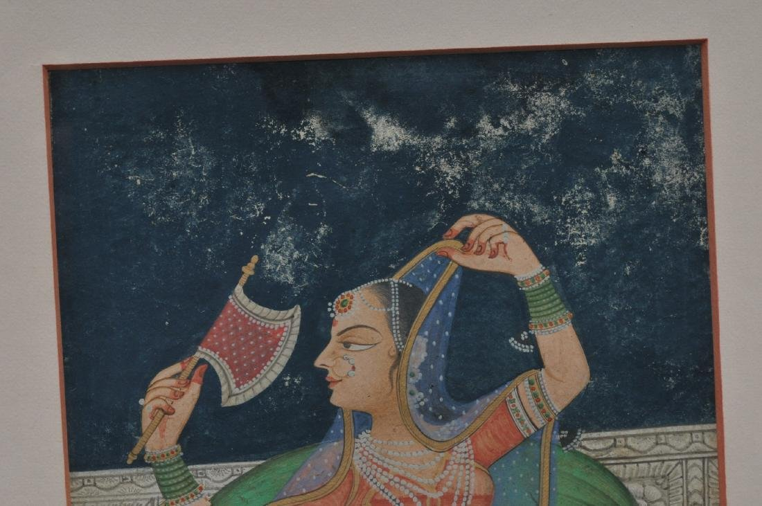 Miniature painting. India. 19th century. Ink, colours - 4