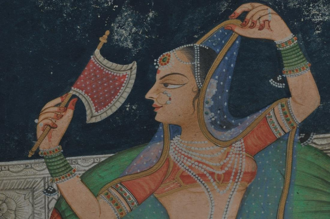 Miniature painting. India. 19th century. Ink, colours - 6