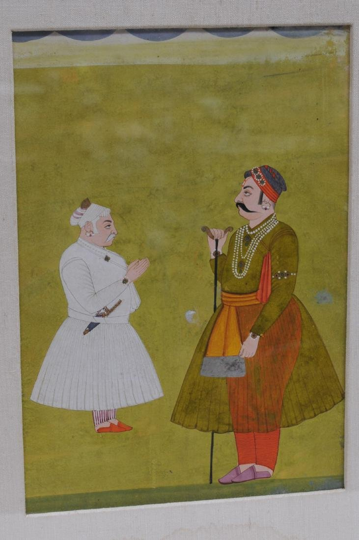 Miniature painting. India. 19th century. Ink, colours - 2