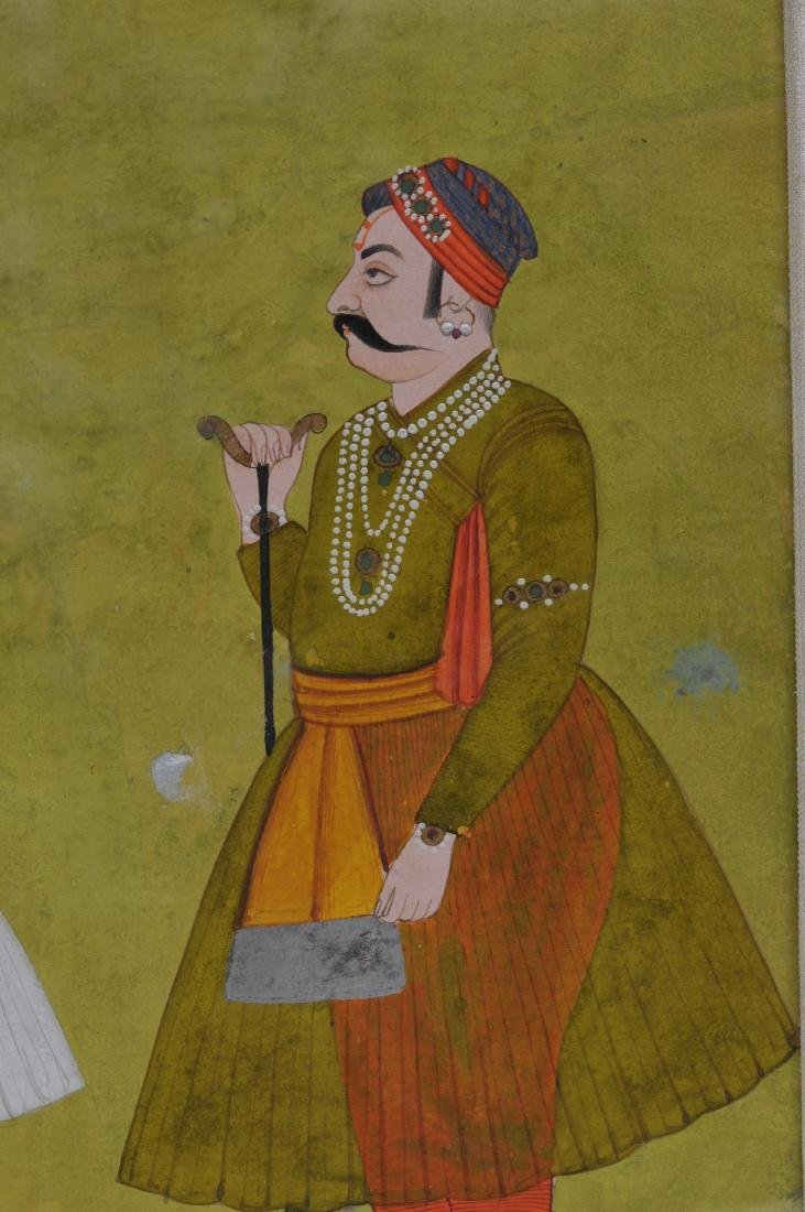Miniature painting. India. 19th century. Ink, colours - 3