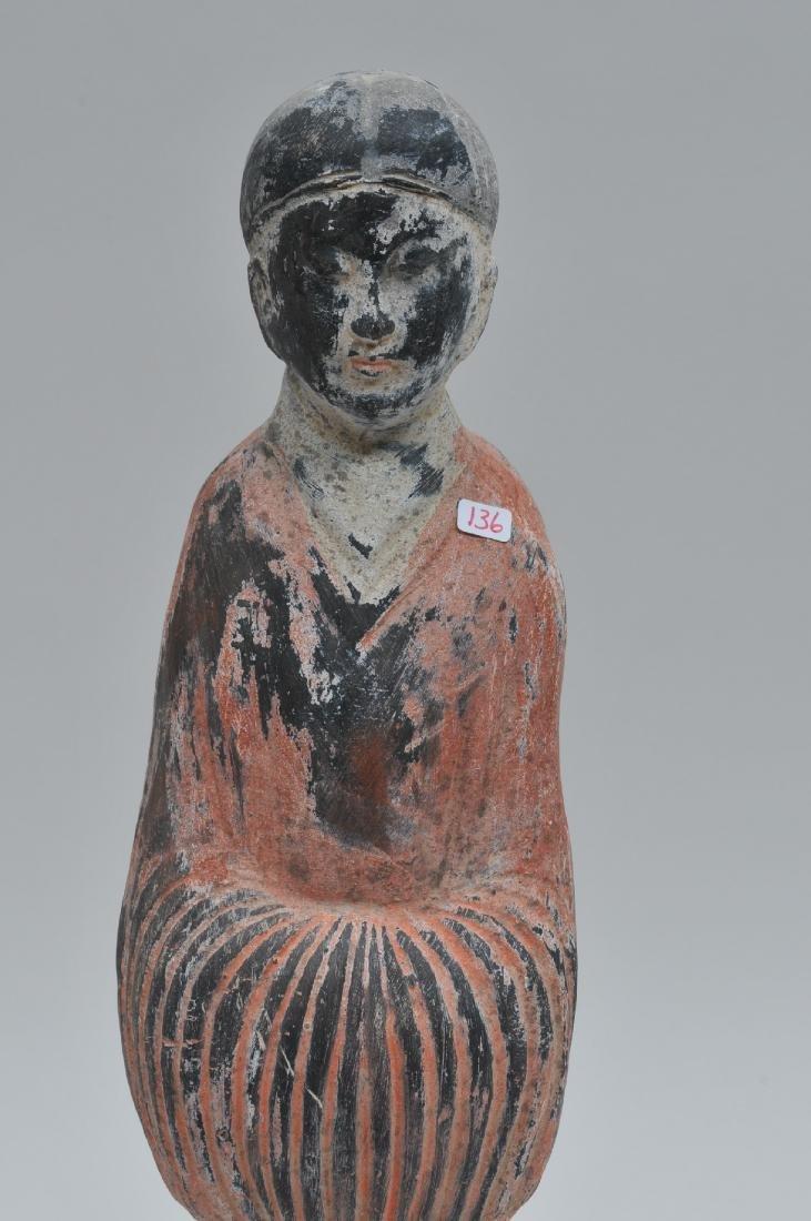 Terracotta tomb figure of a female servant. Han style. - 2