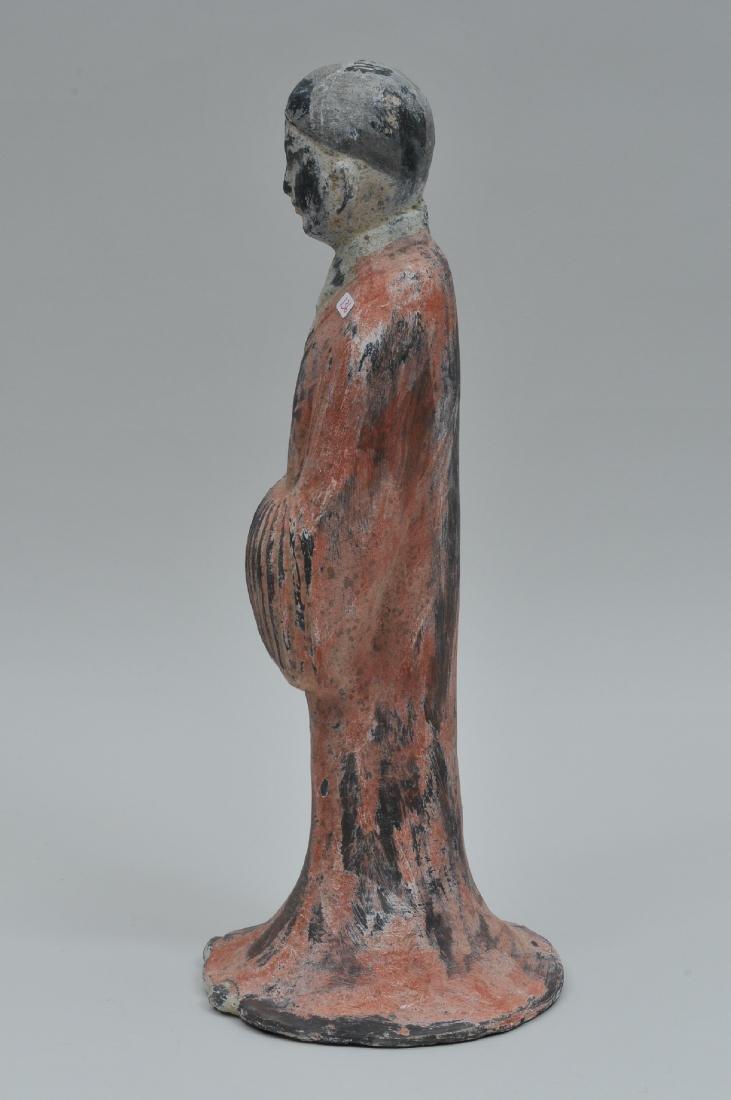 Terracotta tomb figure of a female servant. Han style. - 5