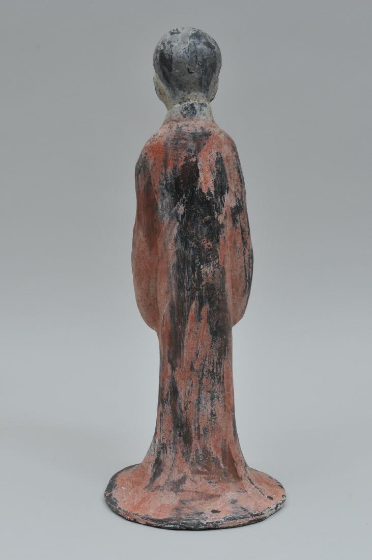 Terracotta tomb figure of a female servant. Han style. - 6