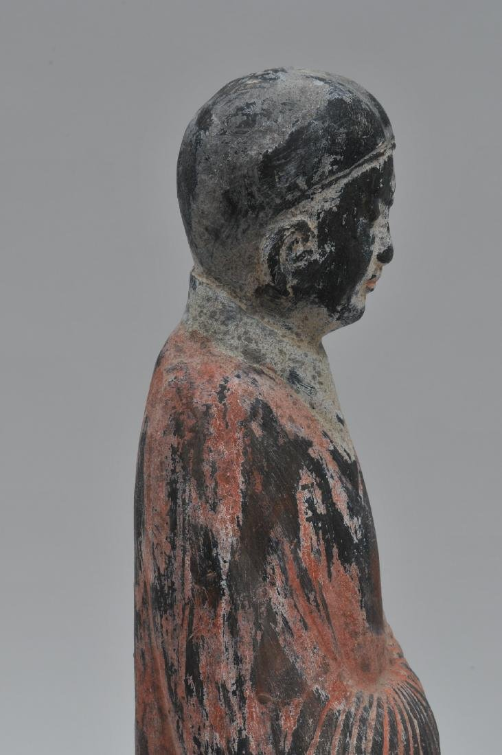 Terracotta tomb figure of a female servant. Han style. - 8