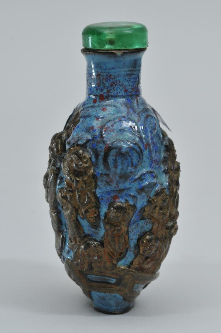 Snuff bottle. China. 19th century. Porcelain made to - 2