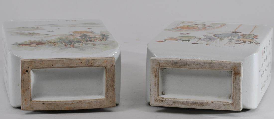 Pair of porcelain vases. China. Republic Period. - 10