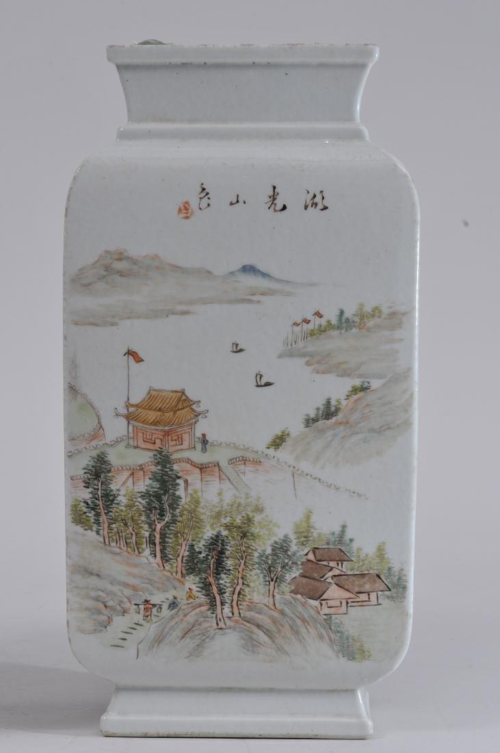 Pair of porcelain vases. China. Republic Period. - 2
