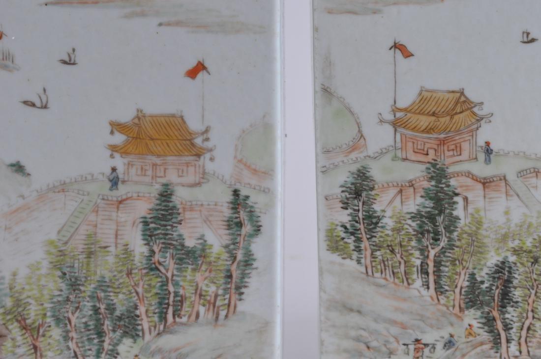Pair of porcelain vases. China. Republic Period. - 4