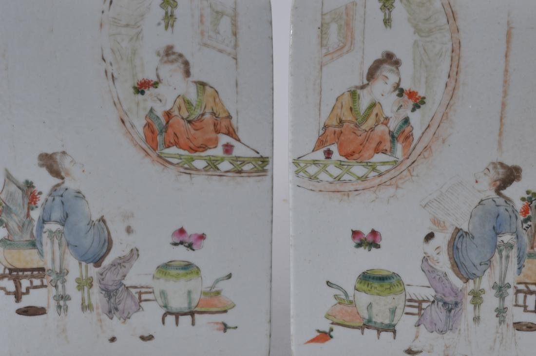 Pair of porcelain vases. China. Republic Period. - 7