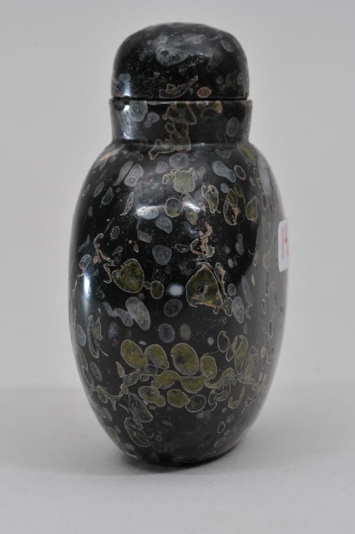 Snuff bottle. China. 19th century. Purple pudding stone - 2